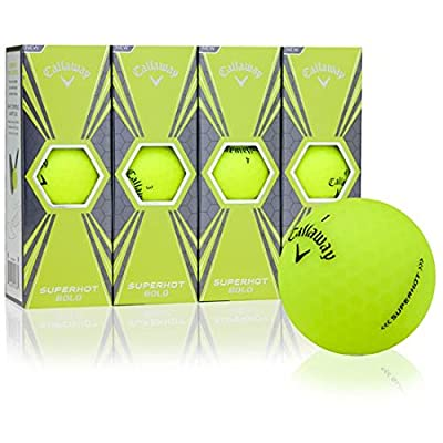 Callaway Golf Superhot Bold Matte Yellow Golf Balls