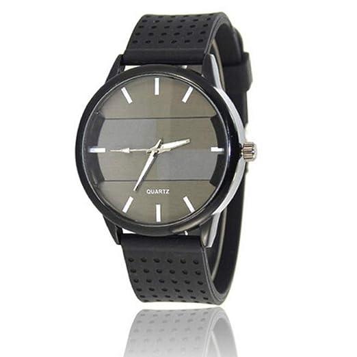 Cebbay Liquidación Imported Unisex Reloj de Lujo de Cuarzo Deportivo Militar de Acero Inoxidable Dial Leather Band Ocio Moda Noble Reloj de Pulsera de los ...