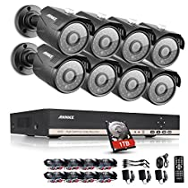 ANNKE 8CH 960P CCTV DVR + (8) 960P HD Cameras Vandalproof Security Camera System with Internet Access, Scan QR Code, Quick Remote Viewing 1TB HDD Included