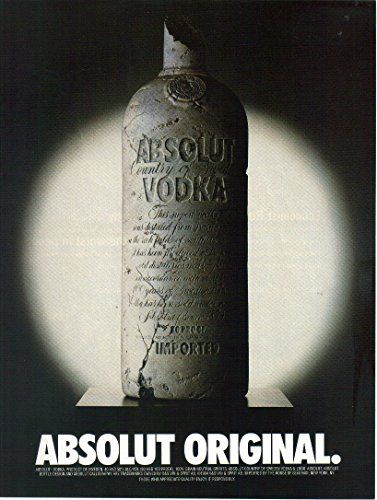 Original Vodka (Print Ad: 2002 Absolut Vodka 'Absolut Original')