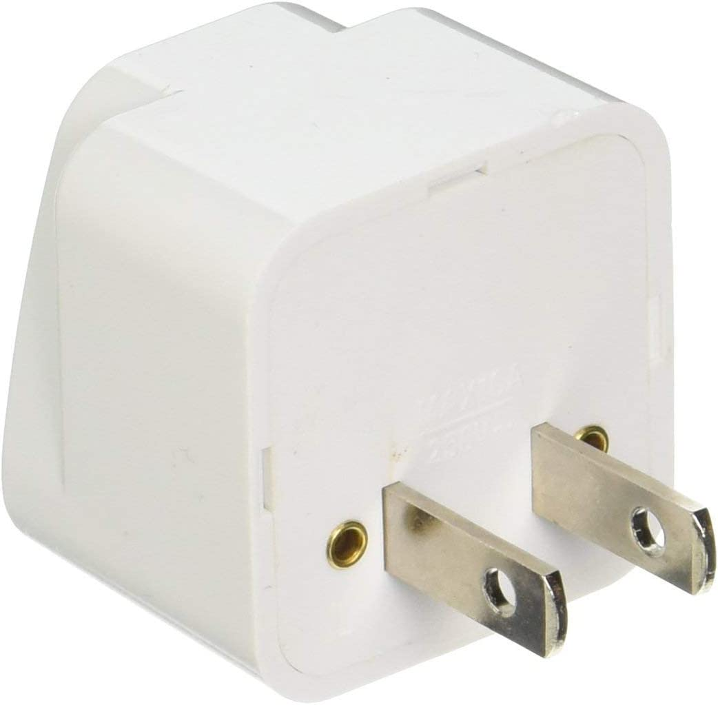 2 Pack Universal Power Travel Plug Adapter Converting from EU/UK/CN/AU to USA FR DE BE CZ SE NZ DK NL to US CA CN Wall Outlet Power Charger Converter 2 PIN 10A European to American Europe Asia
