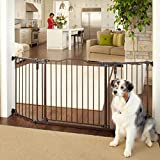 "North States MyPet 72"" Extra-Wide Windsor Arch Gate: Provides Safety in Extra-Wide Spaces. Hardware Mount. Fits 38.3""-72"" Wide (30"" Tall, Matte Bronze)"