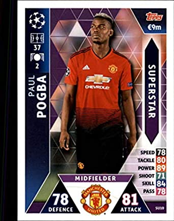 2018-19 Topps UEFA Champions League Match Attax Superstars  SU10 Paul Pogba  Manchester United 3ee2c6a57
