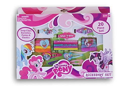 My Little Pony 20 Piece Hair and Accessory Set (My Little Pony Accessories)