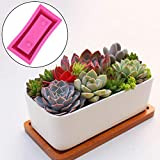 Feileng DIY Flower Pot Silicone Molds Succulent Plant Mould Home Garden Decoration Craft Concrete Planter Pallet