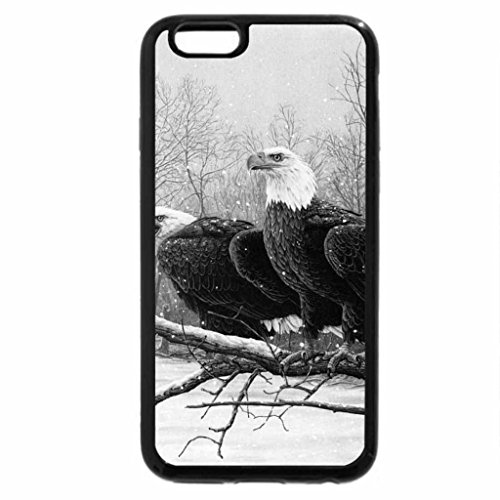 iPhone 6S Case, iPhone 6 Case (Black & White) - Eagle Pair at Snowy River
