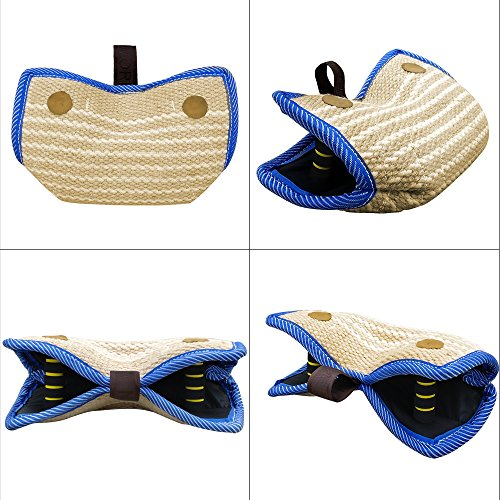 PET-ARTIST-JuteLinen-Bite-Wedge-Bite-Pillow-2-Handle-with-1-Loop-Tug-Toy-1436cm-820cm
