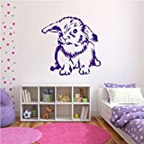 Long Haired Rabbit Wall Sticker Animal Wall Decal Art available in 5 Sizes and 25 Colours X-Large White