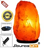 2-3 KG NATURAL PINK HIMALAYAN CRYSTAL ROCK SALT LAMP WITH DIMMER SWITCH AND BRITISH STANDARD ELECTRIC PLUG. 100 % PREMIUM AND FINE QUALITY SOURCEDIY®