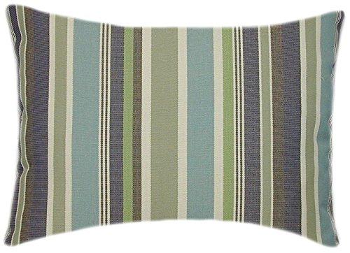Sunbrella Brannon Whisper Indoor/Outdoor Striped Pillow 12x18 Rectangle