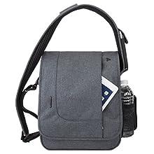 Travelon: Anti-Theft Urban N/S Messenger Bag - Slate