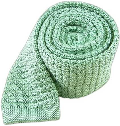 100% Knitted Silk Mint Textured Knit 2