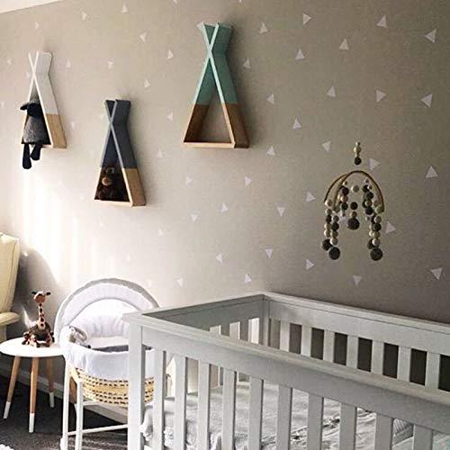 Amazon.com: Nordic Wooden Triangle Wall Decoration Shelf Kids Children Room Hanging Storage Woodland DIY Gift 30x25x10CM: Kitchen & Dining