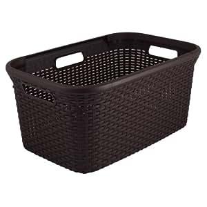 Estilo Curver 2045165 Plástico cesta de lavadero Café oscuro 45 L