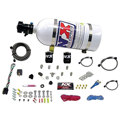 Nitrous Express 20923-10 35-75 HP Sport Compact EFI Single Nozzle System with 10 lbs. Bottle by Nitrous Express (Image #1)'