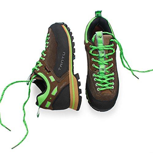 Chaussures Chaussures Green Chaussures respirantes de de escalade Hommes randonnee Showlovein etanches montagne en 1IwZfaqa