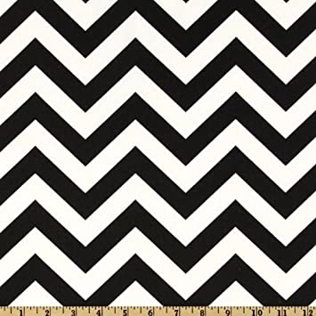 Amazon com 54 wide premier prints zig zag black white fabric by the yard