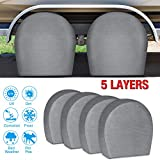 """RVMasking Tire Covers for RV Wheel Set of 4 Extra Thick 5-ply Motorhome Wheel Covers, Waterproof UV Coating Tire Protectors for Trailer Truck Camper Auto, Fits 29' - 31.75"""" Tire Diameters"""