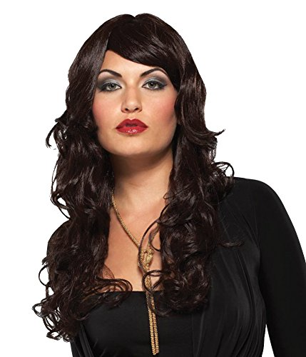 Costume-Wig Supermodel Black Halloween Costume - 1 (Womens Black Super Model Wig Costumes)