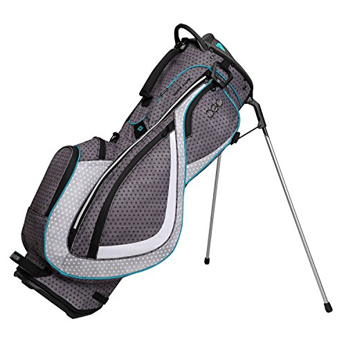 OGIO Diva Luxe Stand Bag, Black Polka Dot/Aqua Diva Golf Stand Bag