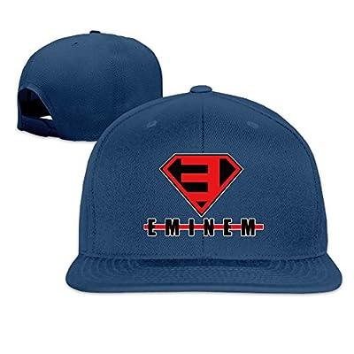Eminem Superlogo Men And Women Navy Adjustable Baseball Cap Dancing Hat