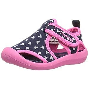 OshKosh B'Gosh Aquatic Girl's and Boy's Water Shoe, Navy/Pink, 10 M US Toddler