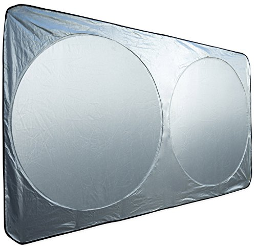 Motorup America Auto Windshield Sunshade Fits Select Vehicles Car Truck Van SUV - Portable