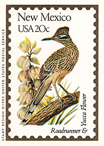 (New Mexico State Bird & Flower trading card (Roadrunner & Yucca Flower) 1991 Bon Air #31