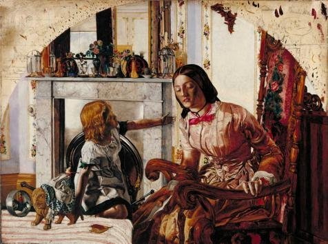 [High Quality Polyster Canvas ,the Vivid Art Decorative Canvas Prints Of Oil Painting 'Frederic George Stephens - Mother And Child,1854', 12x16 Inch / 30x41 Cm Is Best For Home Theater Gallery Art And Home Artwork And] (French Fries Costume Toddler)