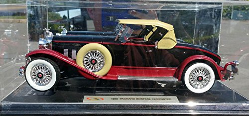signature-models-packard-boattail-speedster-1930-1-18-scale-diecast-model-car-black-red-18138-diecas