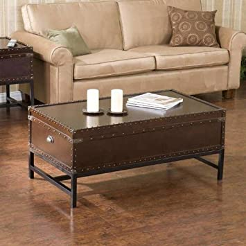 Marvelous Amazon Com Southport Trunk Coffee Table With Lift Top Andrewgaddart Wooden Chair Designs For Living Room Andrewgaddartcom
