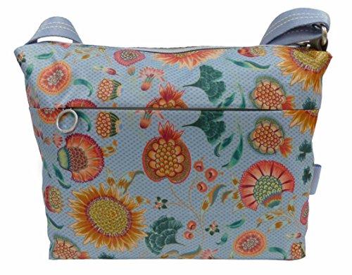 Damen Charm Sunflower Shoulderbag Mhz Schultertasche, Blau (Light Blue), 13x23x27 cm Oilily
