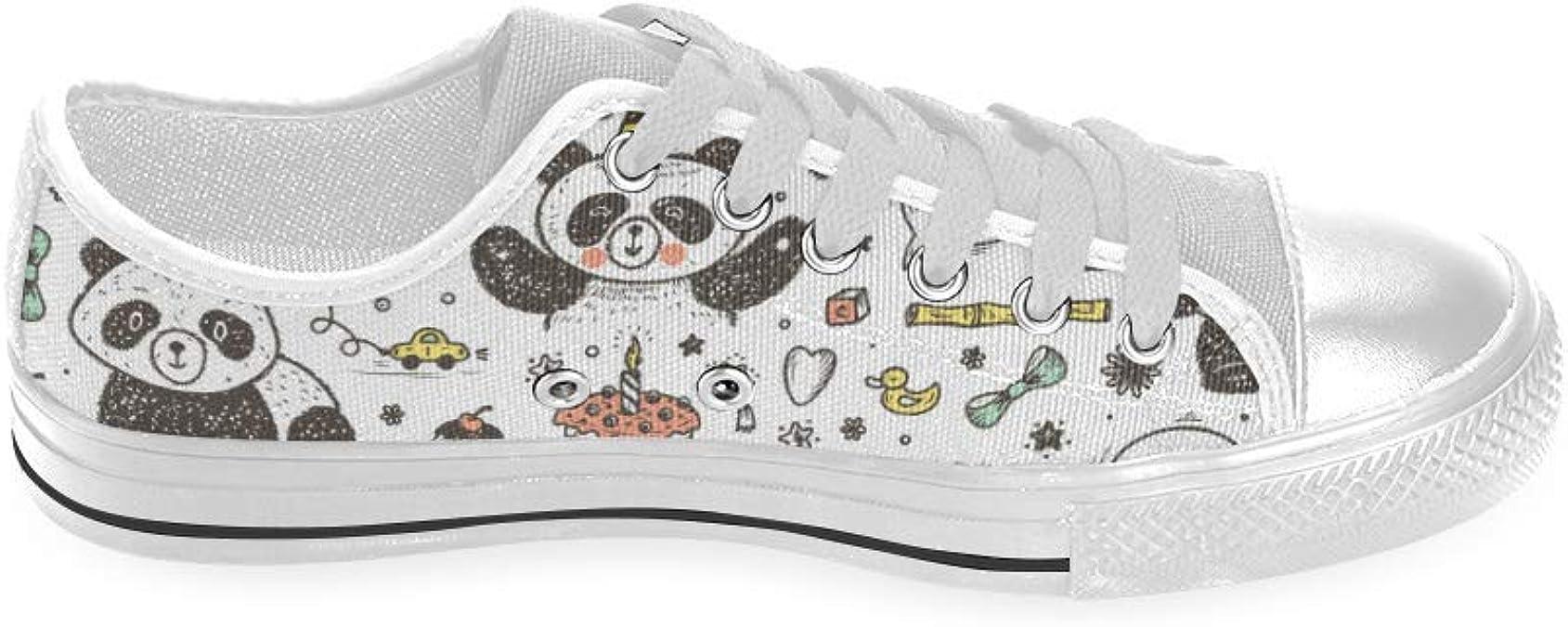 INTERESTPRINT Cute Panda Aquila High Top Canvas Shoes for Big Kids Boys Girls