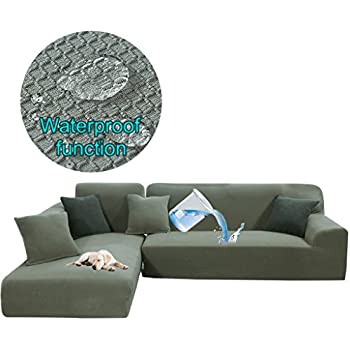 Amazon Com Taiyucover Stretch L Shaped Sofa Protector For