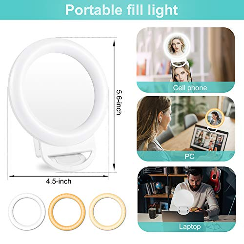 TBJSM Ring Light Kit 10 inch Dimmable LED Ring Light Selfie Ring Light with Light Stand Carrying Bag Phone Holder for Camera Smartphone YouTube TikTok Self-Portrait Shooting Video Conference Lighting