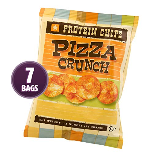HealthSmart - Pizza Crunch Protein Diet Chips - High Protein - Low Calorie - Low Fat - Low Carb - High Fiber - Healthy Weight Loss Chips (7 Bags)