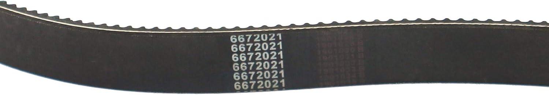 Weelparz 6672021 Drive Pump Belt Fit for Bobcat Skid Steers 753 763 773 430 435