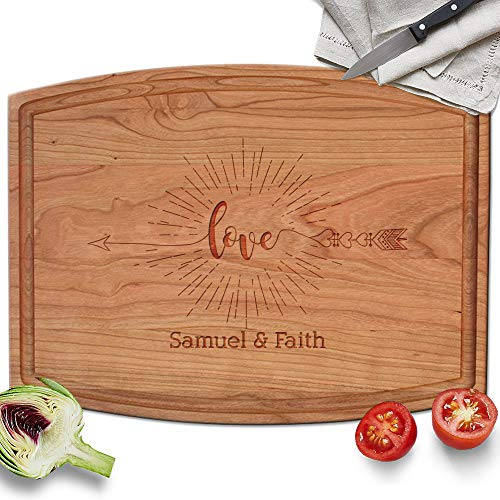 - Froolu Native Love Arrow Sunshine custom made cutting boards for Couples Name Wedding Gifts