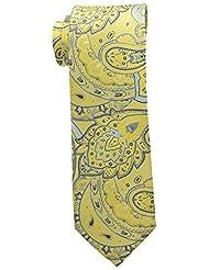Steve Harvey Men's Paisley Woven Necktie and Solid Pocket Square