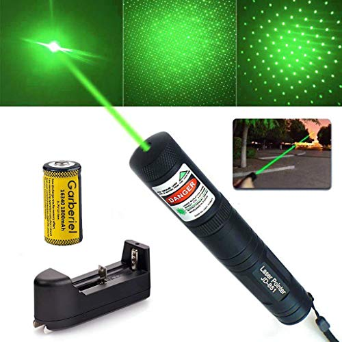 Green Laser Star Projector (SALM Tactical Green Hunting Rifle Scope Sight Laser Pen, Demo Remote Pen Pointer Projector Travel Outdoor Flashlight, LED Interactive Baton Funny Laser Toy with Star Cap)