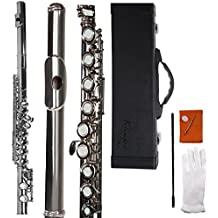 Aileen Lexington C-Key Closed Hole German Nickel Flute with Full Accessories and Maintenance Kit