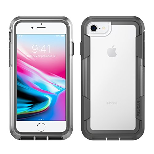 Aa Cell Holster - Pelican C35030-000A-CLCG iPhone 8 Case |  Voyager Case - fits iPhone 6s/7/8 (Clear/Grey)
