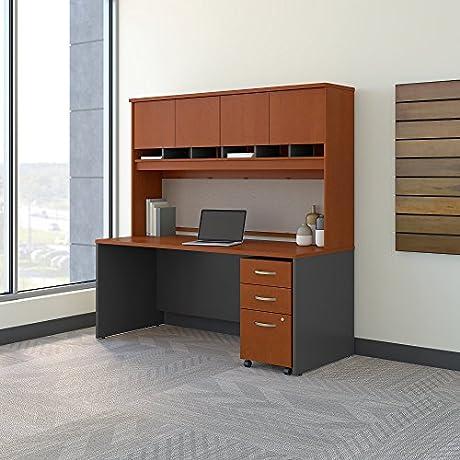 Bush Business Furniture Office Suite SRC080AUSU Auburn Maple Graphite Gray