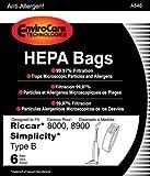 vacuum bag closure - Envirocare Riccar Type B Bags for 8000, 8900 HEPA w/closure