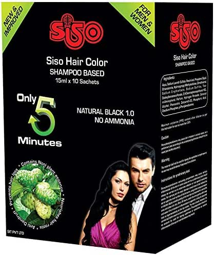 Siso Hair Color Shampoo- 15ml (Pack of 20)