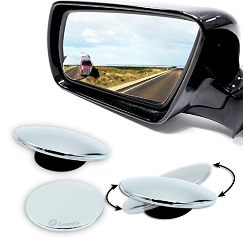 - Zone Tech Blind Spot Adjustable Mirrors - 2-Pack Premium Quality Blind Spot Mirror Adjustable Stick-On Exterior Side Mirror for All Cars Motorcycles Trucks Snowmobiles