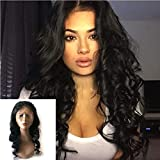"Enoya Hair 360 Lace Frontal Loose Wave Human Hair Wigs-Glueless 180% Density Brazilian Virgin Remy Wigs with Baby Hair (10"")"