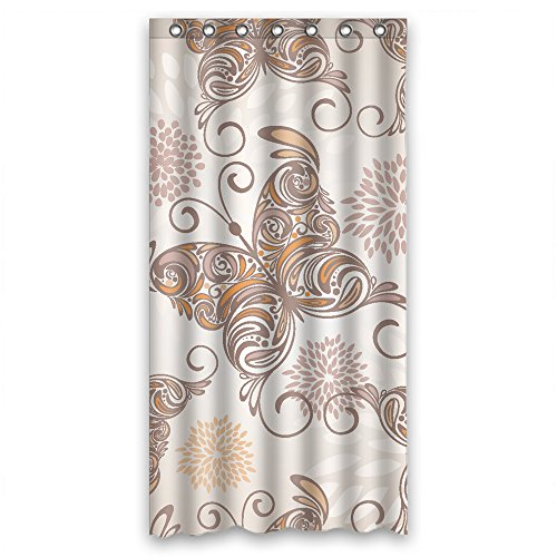 MaSoyy Polyester Butterfly Bath Curtains Width X Height / 36 X 72 Inches / W H 90 By 180 Cm Gift Or Decor For Kids Boys Birthday Boys Her. Eco Friendly - Fabric