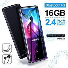 2019 new player heavy attack, 4 colors to choose from, which is pink, blue, silver and black, 2.4 inch large screen, backlight touch button, easy to operate, 16GB memory, support up to 128GB, 60 hours playback time, bringing you a different a...