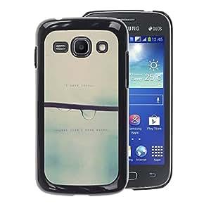 A-type Arte & diseño plástico duro Fundas Cover Cubre Hard Case Cover para Samsung Galaxy Ace 3 (Love Blurry Sweet Rain Focus)